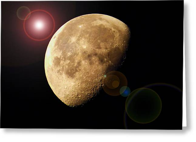 Luna Greeting Cards - Lunacy Greeting Card by Robert Geary