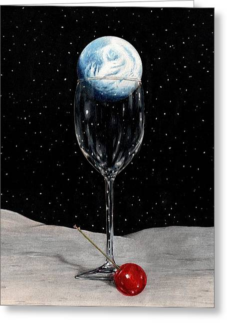 Bruce Lennon Greeting Cards - Lunar Cocktail Greeting Card by Bruce Lennon