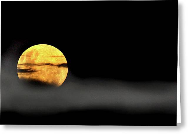 Lunar Mist Greeting Card by Marion Cullen