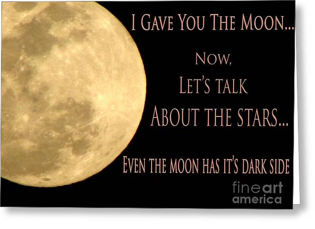 Divorce Greeting Cards - Lunar..tic Greeting Card by Gardening Perfection