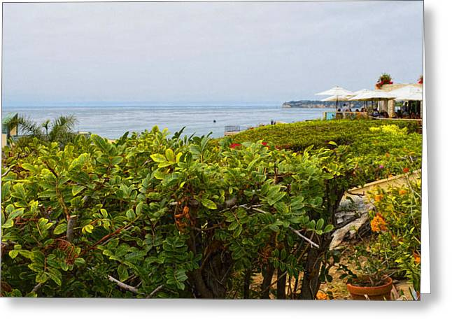 Lunch At Geoffrey's Of Malibu Greeting Card by Glenn McCarthy Art and Photography