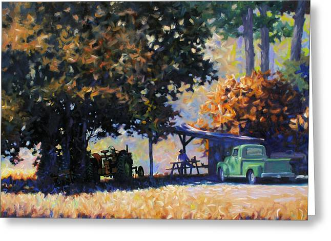 Shed Paintings Greeting Cards - Lunch Greeting Card by Kevin Lawrence Leveque