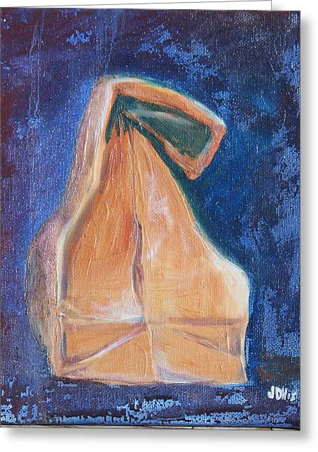 Packing Paintings Greeting Cards - Lunch Sack Blue Greeting Card by Joseph Hawkins