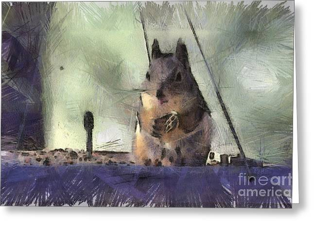 Feeder Framed Prints Greeting Cards - Lunch Time Greeting Card by Denise Oldridge