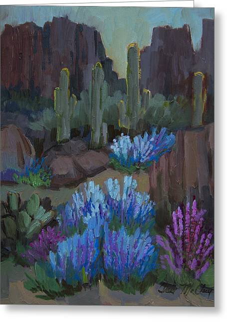Lupine In Bloom At Boyce Thompson Arboretum Greeting Card by Diane McClary