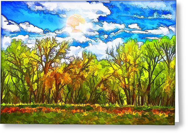 Lush Green Mixed Media Greeting Cards - Lush Green Forest Greeting Card by Joel Bruce Wallach
