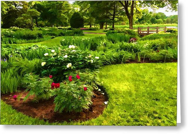 Nature Greeting Cards - Lush Green Gardens - the Beauty of June Greeting Card by Georgia Mizuleva