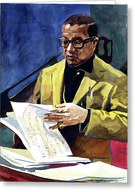 Big Band Greeting Cards - Lush Life Billy Strayhorn Greeting Card by David Lloyd Glover