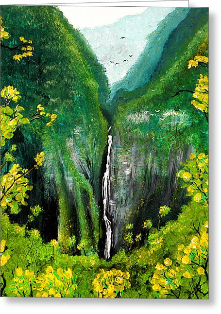 Lush Green Greeting Cards - Lush waterfall Greeting Card by Pierre Leclerc Photography