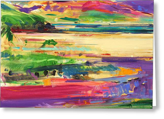 Abstract Expressionist Paintings Greeting Cards - Luskintyre  Harris Greeting Card by Peter Graham