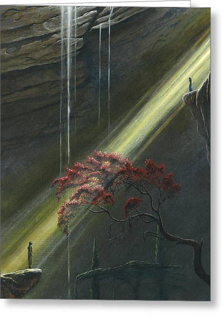 Recently Sold -  - Fantasy Tree Greeting Cards - Luthien Finds Beren Greeting Card by Kip Rasmussen