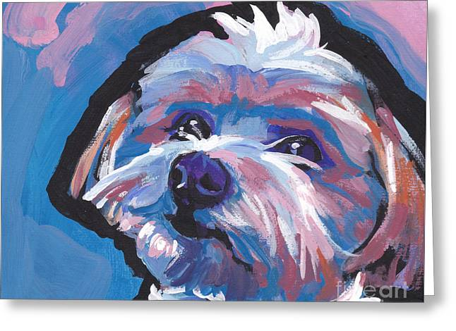 Dog Lover Art Greeting Cards - Luv You Mor Greeting Card by Lea