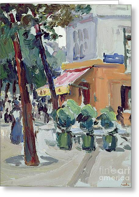 City Buildings Paintings Greeting Cards - Luxembourg Gardens Greeting Card by Samuel John Peploe