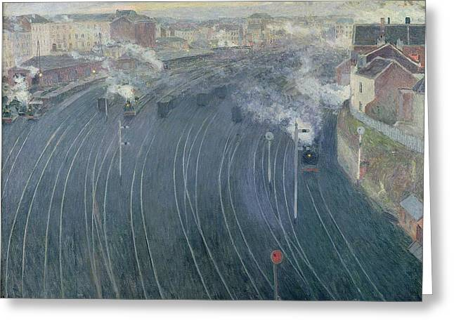 Luxembourg Station Greeting Card by Henri Ottmann