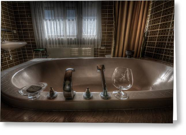 Ruinous Greeting Cards - Luxury bath  Greeting Card by Nathan Wright