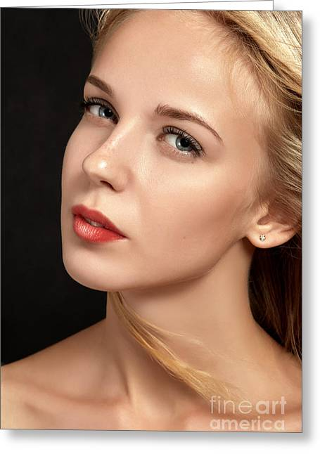 Pensive Greeting Cards - Luxury Blond Greeting Card by Aleksey Tugolukov