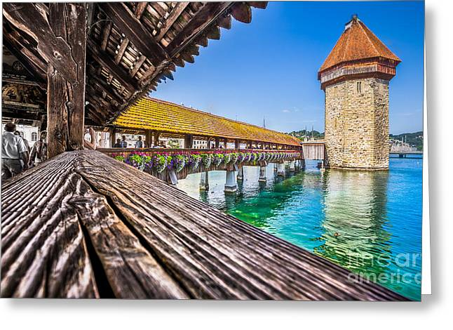 Swiss Culture Greeting Cards - Luzern Greeting Card by JR Photography