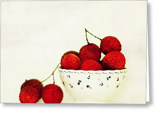 Gift Ideas For Him Greeting Cards - Lychee Greeting Card by Mingtaphotography