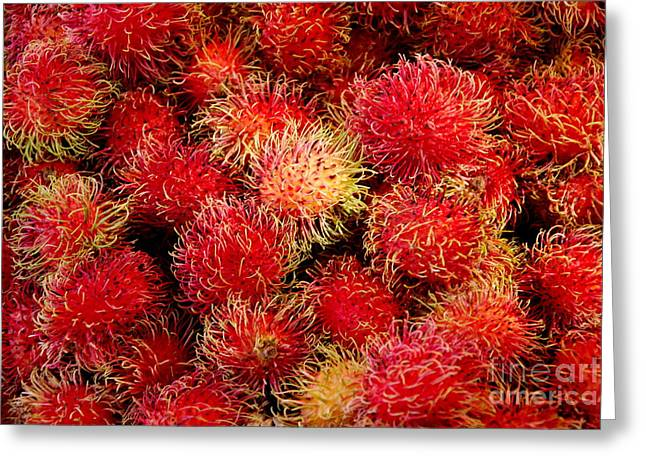 Lychee Greeting Cards - Lychees Greeting Card by Andrea Simon