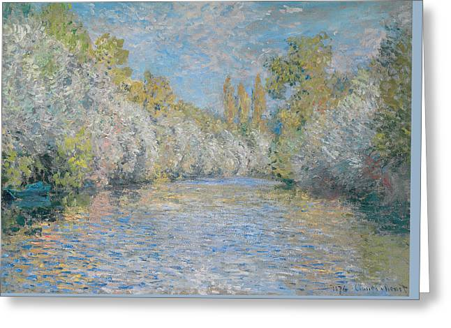 Signature Photographs Greeting Cards - LYerres pres de Montgeron Greeting Card by Claude Monet