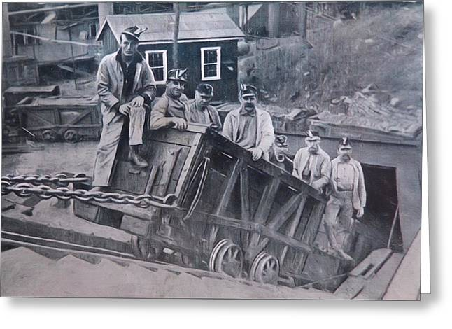 Anthracite Greeting Cards - Lykens Valley Miners Greeting Card by Lori Deiter