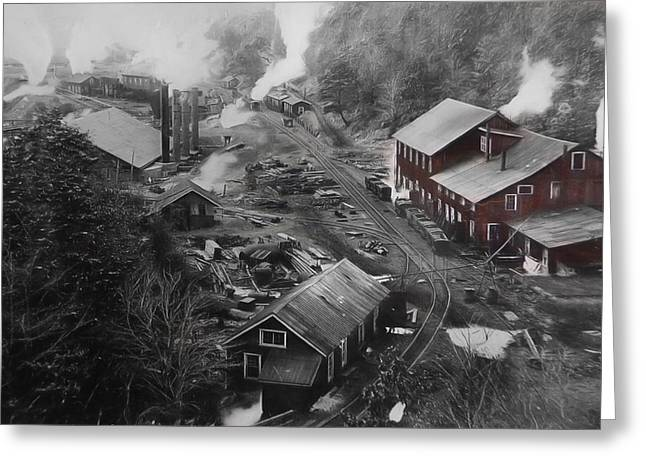 Colliery Greeting Cards - Lykens Valley Mining Greeting Card by Lori Deiter