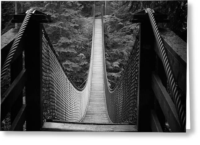 Lynn Canyon Bridge Greeting Card by Tom Buchanan