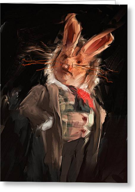 Lapin Greeting Cards - M. Lapin Greeting Card by H James Hoff