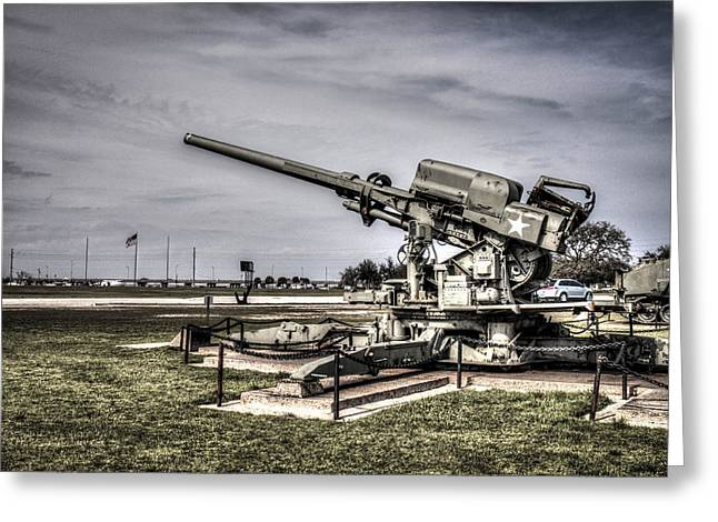 Anti Greeting Cards - M1A 120mm Skysweeper Antiaircraft Gun  Greeting Card by Debra Forand