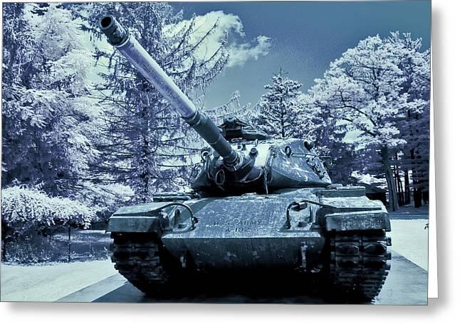 M60 Tank Greeting Cards - M60 Tank US Army Greeting Card by Dimitri Meimaris