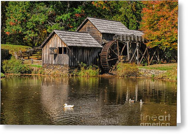 Grist Mill Greeting Cards - Mabry Mill Greeting Card by Audra  Farnham