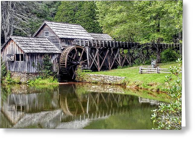 Mabry Mill Greeting Card by Bill Morgenstern