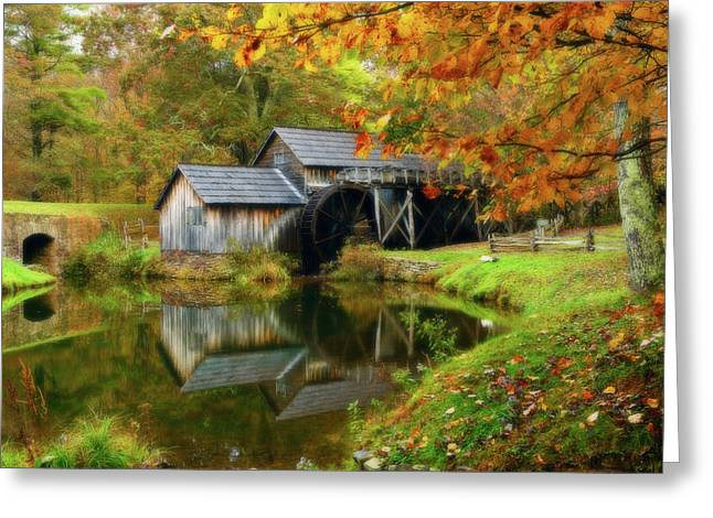 Reminiscent Greeting Cards - Mabry Mill Greeting Card by Jonas Wingfield