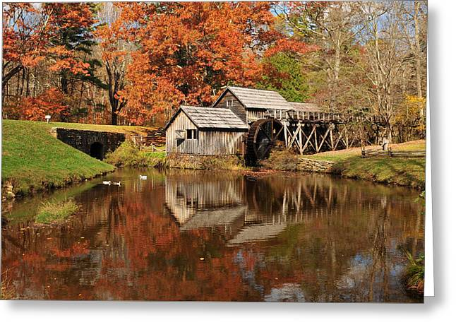 Reminiscent Greeting Cards - Mabry Mill Virginia Greeting Card by Edwin Verin