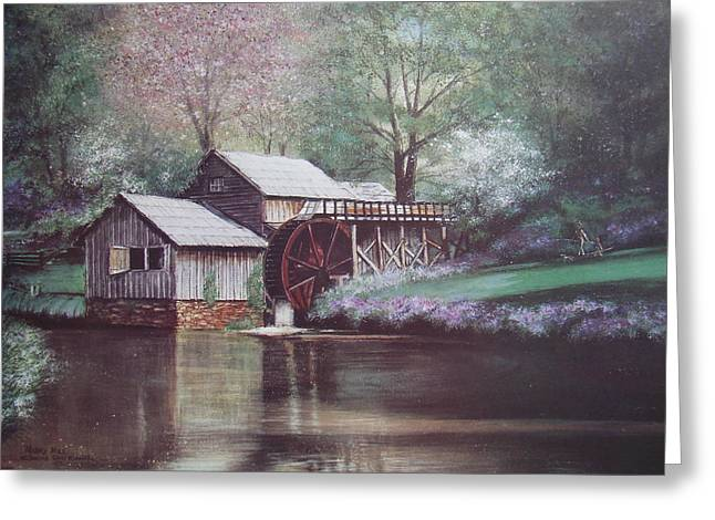 Grist Mill Greeting Cards - Mabry Mills Greeting Card by Charles Roy Smith
