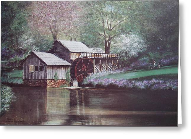 Mabry Mills Greeting Card by Charles Roy Smith