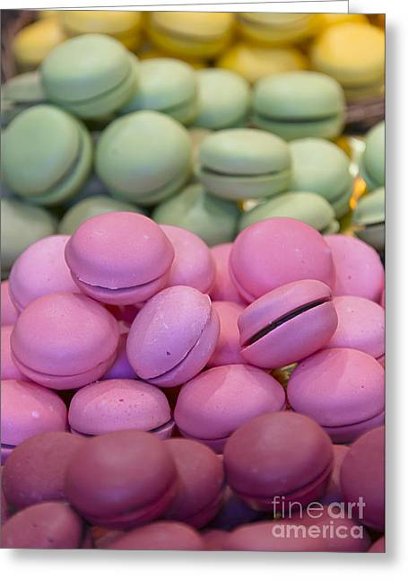 Strawberry Bunch Greeting Cards - Macarons Greeting Card by Svetlana Sewell