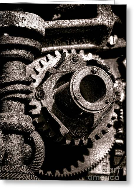 Transmission Greeting Cards - Machination  Greeting Card by Olivier Le Queinec