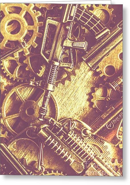 Machine Guns Greeting Card by Jorgo Photography - Wall Art Gallery