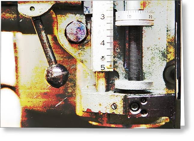 Old Grinders Digital Greeting Cards - Machine Shop Grunge 10 Greeting Card by Darrell Hutto