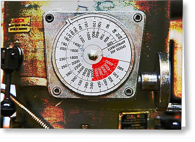 Old Grinders Digital Greeting Cards - Machine Shop Grunge 12 Greeting Card by Darrell Hutto