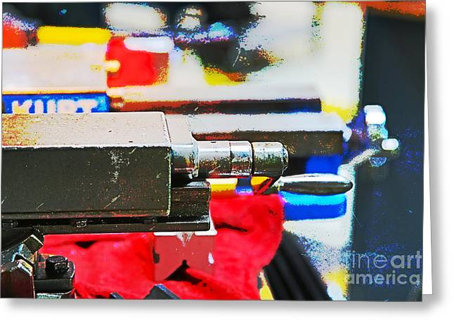 Mechanism Photographs Greeting Cards - Machine Shop Grunge 13 Greeting Card by Darrell Hutto