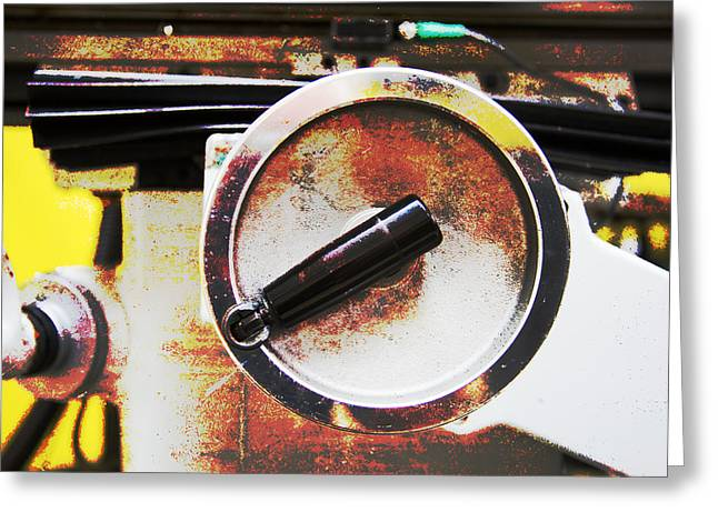 Old Grinders Digital Greeting Cards - Machine Shop Grunge 2 Greeting Card by Darrell Hutto