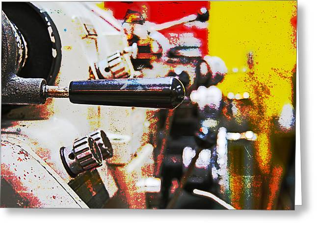 Old Grinders Digital Greeting Cards - Machine Shop Grunge 6 Greeting Card by Darrell Hutto