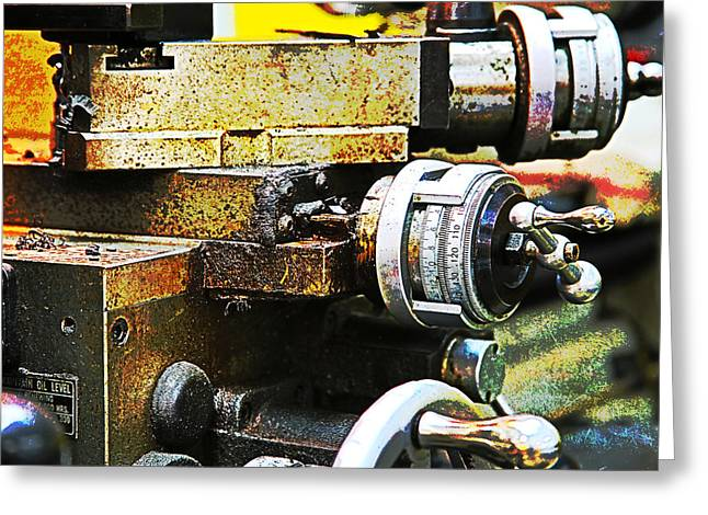 Old Grinders Digital Greeting Cards - Machine Shop Grunge 7 Greeting Card by Darrell Hutto