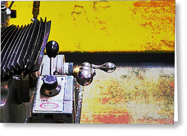 Old Grinders Digital Greeting Cards - Machine Shop Grunge 9 Greeting Card by Darrell Hutto
