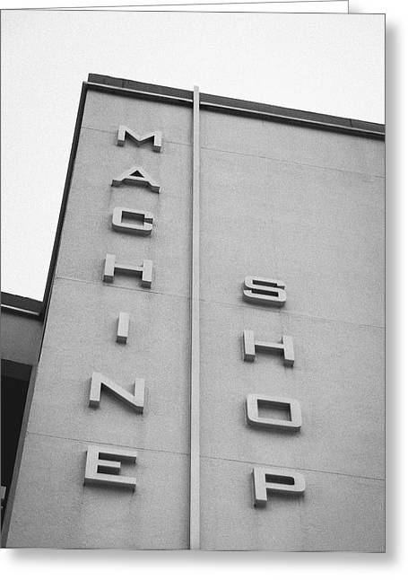 Mid-century Look Greeting Cards - Machine Shop Greeting Card by Jon Woodhams