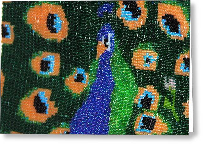 Portraits Tapestries - Textiles Greeting Cards - Machismo Greeting Card by Rachel Rose