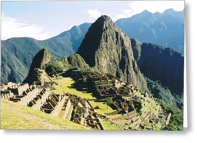 Kathy Schumann Greeting Cards - Machu Picchu Greeting Card by Kathy Schumann