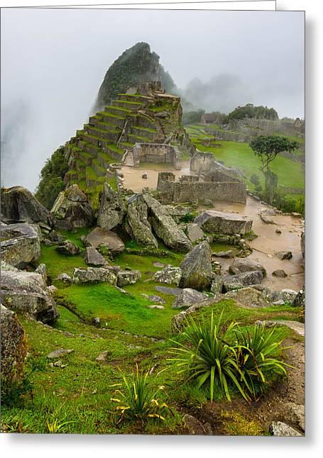 Machu Picchu Peru Greeting Card by Andre Distel